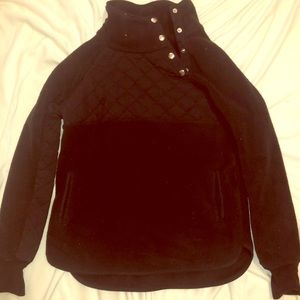 Black half button up Abercrombie and Fitch Fleece